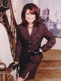 Mary McDonnell in Black Suit Portrait Photo by  Movie Star News