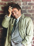 Peter Falk smiling in Formal Outfit with Gray Coat Portrait Photo by  Movie Star News