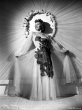 Mary Martin wearing a Lace Dress and Swaying her Skirt Photo by  Movie Star News
