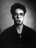 Robert Downey in Black Suit With Cigarette Photo by  Movie Star News