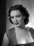 Linda Darnell posed wearing Sexy Dress in Black and White Photo by  Movie Star News
