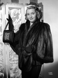 Patricia Neal on a Furry Coat Photo by  Movie Star News