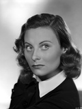 Michele Morgan on a Collar Top Portrait Photo by  Movie Star News