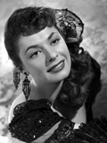 Ruth Roman smiling in Black Gown Photo by  Movie Star News