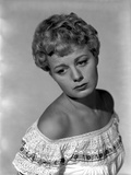 Shelley Winters wearing a White Off Shoulder Top in Classic Portrait Photo by  Movie Star News