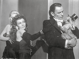 Pal Joey Two Woman Staring a Man in Black and White Photo by  Movie Star News