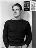 Robert Stack Posed in Black Sweater Photo by  Movie Star News