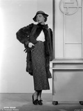 Sylvia Sidney wearing a Furry Coat with Printed Skirt and Hand Waist Photo by  Movie Star News