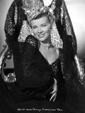 Penny Singleton smiling in Black Floral Dress Portrait Photo af  Movie Star News