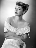 Ruth Roman in White Dress Portrait Photo by  Movie Star News