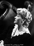 Penny Singleton Faced Side View in Black Lace Dress Portrait Photo af  Movie Star News