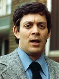Raul Julia in Gray Formal Coat Close Up Portrait Photo by  Movie Star News