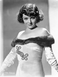 Myrna Loy posed in White Gown Photo by  Movie Star News