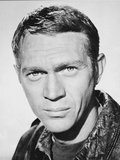 Steve McQueen Close Up in Classic Portrait Photo by  Movie Star News