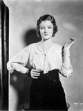 Myrna Loy Posed in Long Sleeve Blouse Photo by  Movie Star News