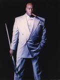 Michael Clarke Duncan Posed in Formal Suit Black Background Portrait Photo by  Movie Star News