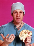 Steve Guttenberg Posed in Blue Scrub Suit Photo by  Movie Star News