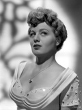 Shelley Winters wearing a White Dress in a Classic Portrait Photo by  Movie Star News