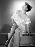 Ruth Roman Seated in Classic Portrait Photo by  Movie Star News