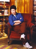 Rob Morrow sitting in Blue long sleeve Photo by  Movie Star News