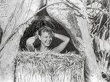 South Pacific Women Taking a Bath in Bathroom Nipa Hut Photo by  Movie Star News