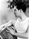 Ramon Novarro Posed in White Tank top With Ball Photo by  Movie Star News