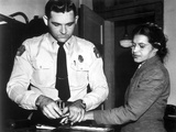 Rosa Parks on a Long Sleeve and Having Fingerprint Stamps Photo by  Movie Star News