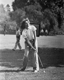 Katharine Hepburn Playing Golf Photo by A Kahle
