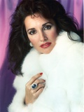 Susan Lucci Pose in White Furry Coat Photo by  Movie Star News