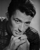 Gregory Peck wearing Checkered Polo Close Up Portrait Photo af E Bachrach