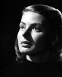 Ingrid Bergman Looking Up in Black Blouse Photo by E Bachrach