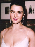 Rachel Weisz Portrait in White Sexy Dress Photo by  Movie Star News