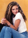 Rebecca Gayheart sitting and smiling Pose Photo by  Movie Star News