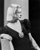 Ginger Rogers Leaning on Chair in Black Dress Side View Angle Photo by E Bachrach