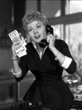 Shelley Winters wearing a Black Dress and Answering the Phone in a Classic Portrait Photo by  Movie Star News