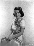 Ruth Gordon on a Silk Dress standing Behind the Chair Portrait Photo by  Movie Star News