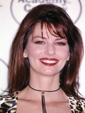 Shania Twain smiling in Animal Print Dress Photo by  Movie Star News