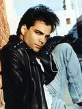 Richard Grieco Posed in Black Leather Jacket Photo by  Movie Star News
