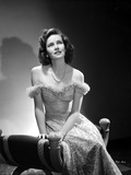 Teresa Wright Seated in Off Shoulder Dress Photo by  Movie Star News
