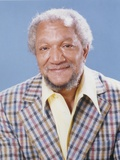 Redd Foxx in Checkered Coat Skyblue Background Portrait Photo by  Movie Star News