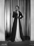 Sylvia Sidney wearing and Smoking in Gown Photo by  Movie Star News
