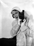 Ruth Roland Holding Camera in Furry Coat Portrait Photo by  Movie Star News