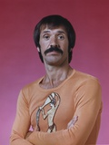 Sonny Bono Posed in Orange Long Sleeve Shirt Photo by  Movie Star News