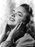 Terry Moore Hands on Face and smiling Portrait Photo by  Movie Star News