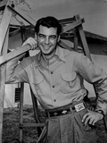 Rory Calhoun smiling in Classic Portrait Photo by  Movie Star News