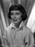 Phyllis Kirk smiling in Gray scale Portrait wearing Collar Sweater Photo by  Movie Star News