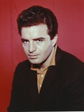 Vince Edwards Red Background Portrait Photo by  Movie Star News