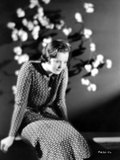 Sylvia Sidney in Printed Dress Photo by  Movie Star News