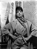 Suzanne Pleshette wearing a Trench Coat and Hands on Waist Photo af Movie Star News
