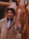 Richard Boone Posed with Horse Photo by  Movie Star News